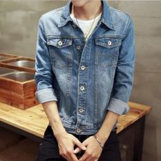 Jual Zh Shopping   Pria Fashion Koboi Lambang Mengolah Seseorang Moralitas Biru Intl Baru