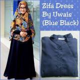 Spesifikasi Zifa Dress By Uwais Hijab Blue Black Dan Harga