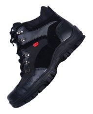Jual Zimzam Sepatu Pdl Middle Full Black Resleting 6Inc Original