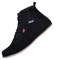 Spek Zimzam Sepatu Ventura Suede Black Jawa Barat