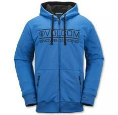 Zipp Hoodie Volcom Snowboarding Blue * Murah