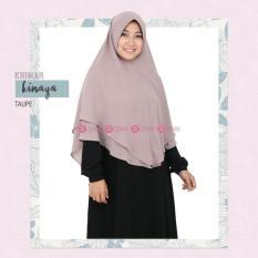 Zizara Khimar Kinaya Taupe - Hijab Kerudung Khimar Jilbab Syari