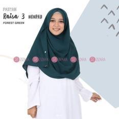 Zizara Pastan Raisa 3 Nonpad Forest Green - Hijab Kerudung Khimar