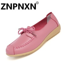 Harga Znpnxn Sepatu Kasual Kulit Lembut Anti Skid Dengan Wanita Sepatu Mocassins Loafer Sepatu Pink Intl Di Tiongkok
