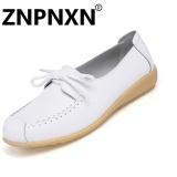 Harga Znpnxn Sepatu Kasual Kulit Lembut Anti Skid Dengan Wanita Sepatu Mocassins Loafer Sepatu Putih Intl Dan Spesifikasinya