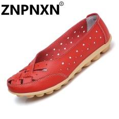 Toko Znpnxn Sepatu Kasual Kulit Sepatu Kedelai Sepatu Musim Panas Sendal Wanita Flat Fesyen Merah Intl Znpnxn Online