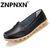 Harga Znpnxn Sepatu Kasual Kulit Sepatu Kasual Dangkal Mulut Datar Perawat Sepatu Putih Kecil Sepatu Anti Selip Wanita Hitam Intl Seken