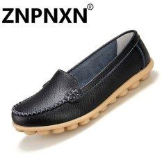 Harga Znpnxn Sepatu Kasual Kulit Sepatu Kasual Dangkal Mulut Datar Perawat Sepatu Putih Kecil Sepatu Anti Selip Wanita Hitam Intl Znpnxn Baru