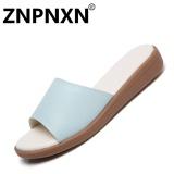 Beli Znpnxn Sendal Pantai Wanita S Sandal Datar Sandal Wanita Kasual Beach Sepatu Word Drag Anti Slip Sandal Biru Muda Intl Di Tiongkok