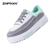 Harga Znpnxn Kaus Wanita Sepatu Fashion Sepatu Kasual Korea Muffin Sepatu Bawah Bersol Sepatu Olahraga Flatform Sepatu Outdoor Rekreasi Sepatu Grey Znpnxn Asli