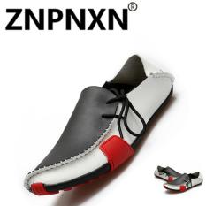 Harga Znpnxn Kaus Kulit Sintetis Kasual Pantofel Putih Termurah