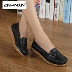 Toko Znpnxn Fesyen Sendal Ukuran Besar Skid Proof Fashion Ibu Sepatu Musim Semi And Musim Gugur Lembut Bawah Kasual Wanita Sepatu Hitam Yang Bisa Kredit
