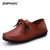Review Znpnxn Fesyen Sendal Laces Flat Bawah Ibu Sepatu Lembut Sol Sepatu Kasual Wanita Sepatu Lace Up Shoes Dark Brown Intl