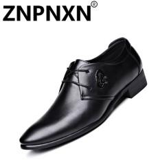 Znpnxn Sepatu Kulit Pria Retro Sepatu Musim Semi Menunjuk Ujung Kaki Kantor & Karir Modis Pria Renda Atas Sepatu Brogue- internasional