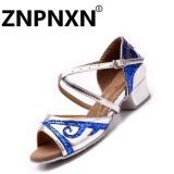 Diskon Znpnxn Kaus Bertumit Rendah Girls Latin Sepatu Dansa Anak Anak Sepatu Tari Wanita Latin Perak Intl Akhir Tahun