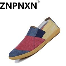 ZNPNXN KAUS Pria Carrefour Sepatu Dicuci Kanvas SHOES SEPATU Malas (Merah)-Intl