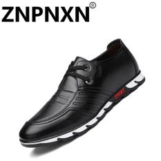 Spesifikasi Sepatu Kulit Znpnxn S Pria Sepatu Kasual Modis Hitam Intl Dan Harga