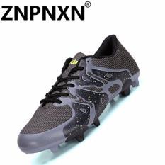 Tips Beli Pria S Soccer Sepatu Fashion Sepatu Olahraga Bernapas Sepatu Sepak Bola Youth Training Shoes Hitam Intl Yang Bagus