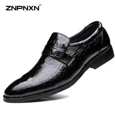 Harga Pria S Sepatu Fashion Kulit Sepatu Slip On Black Sepatu Mewah Pria Split Sepatu Kulit Mens Sepatu Kasual Zapatos Hombre Hitam Intl Lengkap
