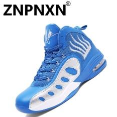 Toko Pria S Sepatu Fashion Sepatu Baru Men S Shoes Bernapas Nyaman Sepatu Basket Biru Intl Termurah