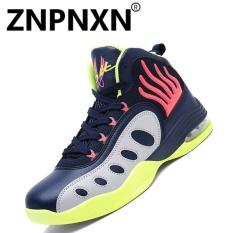 ZNPNXN Pria's Sepatu Fashion Sepatu Baru Men'S Shoes Bernapas Nyaman Sepatu Basket (Merah)-Intl