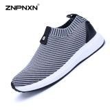 Harga Pria S Sepatu Fashion Sepatu Olahraga Slip On Sepatu Lari Bernapas Pakai Sepatu Mewah Pria Ukuran 39 44 Yards Grey Termahal