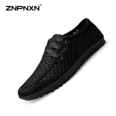 Jual Pria S Sepatu Fashion Tren Casual Sepatu Pria S Sepatu Nyaman Breathable Net Cloth Sepatu Hitam Intl Tiongkok Murah