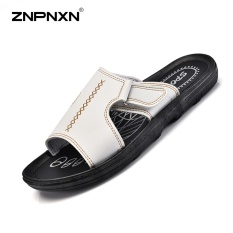 Pria S Gaya Korea Sepatu Kasual Sandal Laki Laki Kulit Sandal Loafers Sandal Musim Panas Pantai Sepatu Ukuran 38 46 Yards Putih Intl Znpnxn Diskon 40