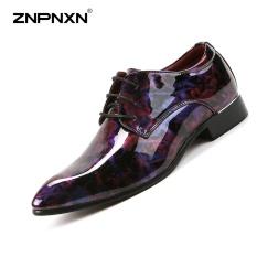 ZNPNXN Pria's Sepatu Pria Bisnis Sepatu Kasual Modis Bisnis Tren Kualitas Tinggi Sepatu Kulit Ukuran 38-44 Yards (Ungu & Merah)