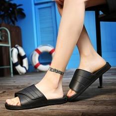 Beli Pria S Sepatu Baru Musim Panas Flip Flops Sandal Magic Tombol Men S Slippers Thick Bagian Bawahnya Nyaman Pria Sandal Sepatu Pantai Ukuran 40 45 Meter Hitam Intl Dengan Kartu Kredit