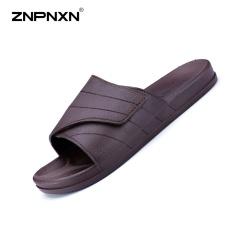 Beli Pria S Sepatu Baru Musim Panas Flip Flops Sandal Magic Tombol Men S Slippers Thick Bagian Bawahnya Nyaman Pria Sandal Sepatu Pantai Ukuran 40 45 Meter Brown Intl Znpnxn Asli