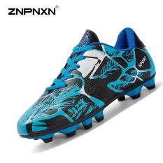 Toko Znpnxn Sepatu Pria Spike Sepatu Sepak Bola Shock Penyerapan Shock Resistance Busana Pria Sepatu Sepak Bola Profesional Stud Sepatu Sepak Bola Biru Intl Termurah