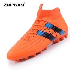 Harga Pria S Sepatu Spike Football Boots Shock Penyerapan Shock Resistance Busana Pria S Sepatu Sepak Bola Profesional Stud Football Sepatu Orange Intl Baru