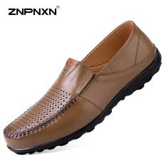 Harga Pria S Sepatu Baru Men S Sepatu Kulit Sepatu Pria S Sepatu Sepatu Tide Peas Lace Up Shoes Kepala Lapisan Kulit Sapi Sepatu Desainer Pria Berkualitas Tinggi Ukuran 39 44 Yards Khaki Intl Znpnxn Ori