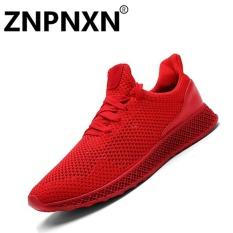 Harga Pria S Olahraga Sepatu Fashion Nyaman Fesyen Merah Intl Znpnxn Asli
