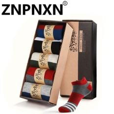 Spesifikasi Znpnxn Baru Kaus Kaki Men S Kapas Perahu Kaus Kaki Sports Boat Socks Kios Socks 5 Double Gift Box Cotton Socks Merah Intl Online