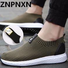 Model Znpnxn Kaus Menjalankan Sepatu For Pria Mesh Bernapas Olahraga Sepatu Sneakers Pria English Cahaya Sepatu Olahraga Hijau Terbaru