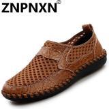 Jual Znpnxn Sepatu Pria Model Slip On Loafers Gaya Eropa Bahan Breathable Sol Bawah Tebal Warna Coklat Online Tiongkok