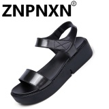 Harga Znpnxn Kaus Musim Panas Fashion Wanita Sandal Flat Velcro Fesyen Hitam Intl Satu Set