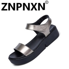 Promo Znpnxn Kaus Musim Panas Fashion Wanita Sandal Flat Velcro Casual Sepatu Perak Intl Di Tiongkok