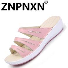 Harga Znpnxn Kaus Sandal Musim Panas Wanita Sepatu Datar Sandal Wanita Sandal Pink Intl Seken