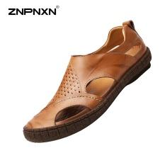 Beli Znpnxn Baru Musim Panas Men S Shoes Sepatu Desainer Pria Berkualitas Tinggi Sandal Pria Sapato Masculino Ukuran 38 44 Meter Brown Intl Online Murah