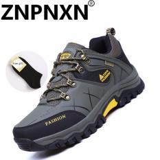 Toko Znpnxn Kaus Hangat Bulu Musim Gugur Musim Dingin Tahan Air Pria Hiking Sepatu Tinggi Top Boots Mountain Pendakian Trekking Sneakers Besar Besar Army Hijau Intl Znpnxn