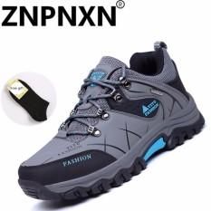 Promo Znpnxn Kaus Hangat Bulu Musim Gugur Musim Dingin Tahan Terhadap Udara Pria Hiking Sepatu Tinggi Top Boots Mountain Pendakian Trekking Sneakers Besar Besar In Abu Abu Intl Znpnxn Terbaru