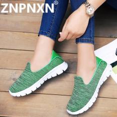 Spek Znpnxn Sepatu Wanita Baru Olahraga Sepatu Wanita Sepatu Flat Down Leisure Jaringan Kain Sepatu Hijau Intl Znpnxn