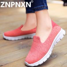 Harga Znpnxn Sepatu Wanita Baru Olahraga Sepatu Wanita Sepatu Flat Down Leisure Jaringan Kain Sepatu Pink Intl Merk Znpnxn