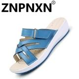 Jual Znpnxn Sepatu Kasual Women Musim Panas Sandal Anti Selip Sandal Nyaman Flat Bottom Biru Intl Znpnxn Online