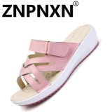Jual Znpnxn Sepatu Kasual Women Musim Panas Sandal Anti Selip Sandal Nyaman Flat Bottom Pink Intl Murah