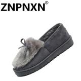 Jual Znpnxn Sepatu Flat Wanita Musim Dingin Fashion Cotton Casual Sepatu Grey Intl Znpnxn Online