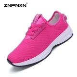 Review Pada Znpnxn Kaus Wanita Sepatu Olahraga Jaring Kasual Mode Sepatu Outdoor Olahraga Sepatu Casual Merah Intl